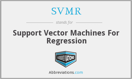 SVMR - Support Vector Machines For Regression
