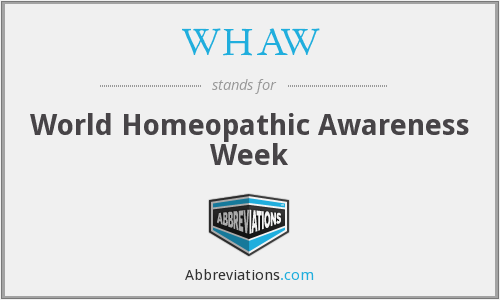 WHAW - World Homeopathic Awareness Week