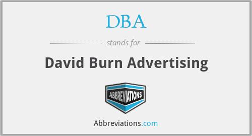 DBA - David Burn Advertising