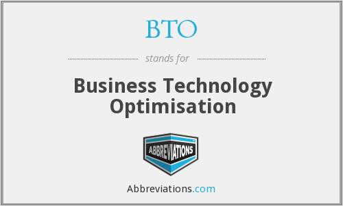 BTO - Business Technology Optimisation