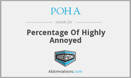 POHA - Percentage Of Highly Annoyed