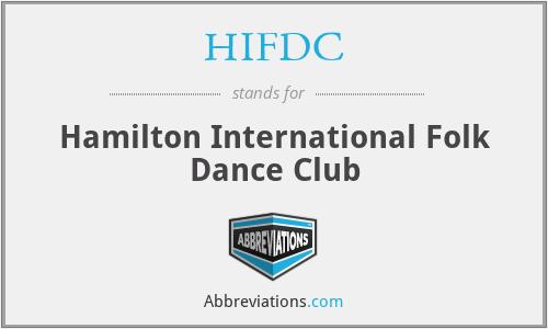 HIFDC - Hamilton International Folk Dance Club