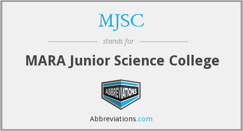 What does MJSC stand for?