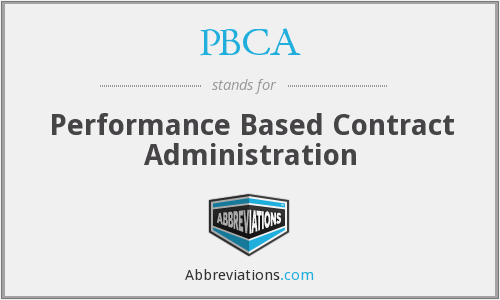 What does PBCA stand for?