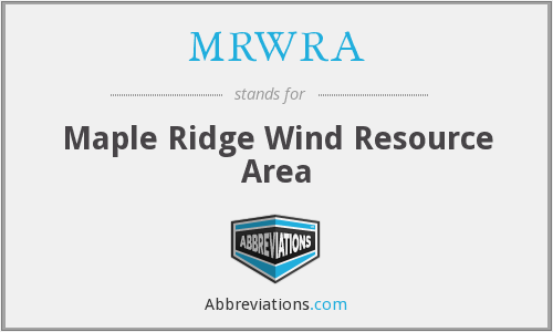 What does MRWRA stand for?