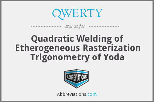 QWERTY - Quadratic Welding of Etherogeneous Rasterization Trigonometry of Yoda