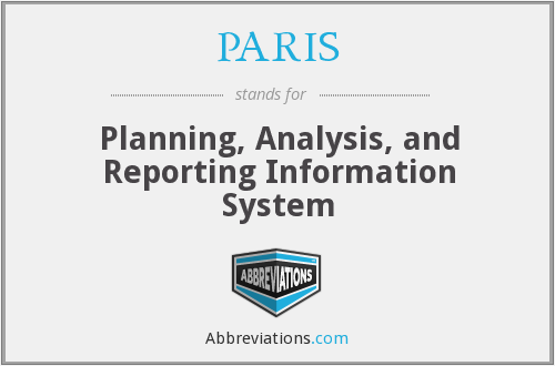 PARIS - Planning, Analysis, and Reporting Information System