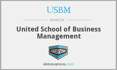 What does USBM stand for?