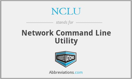 NCLU - Network Command Line Utility