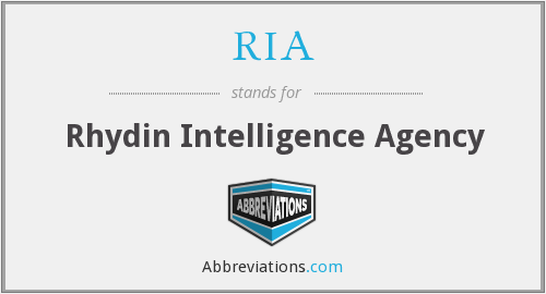 RIA - Rhydin Intelligence Agency