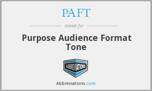 What does PAFT stand for?
