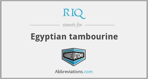 RIQ - Egyptian tambourine