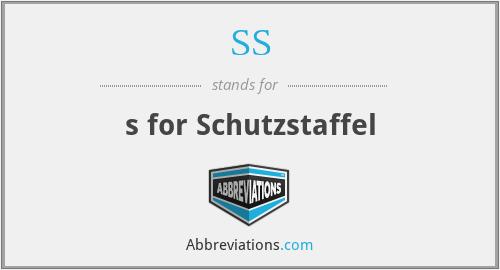 SS - s for Schutzstaffel