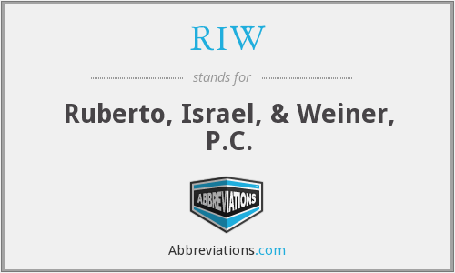 What does RIW stand for?