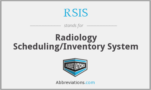 RSIS - Radiology Scheduling/Inventory System