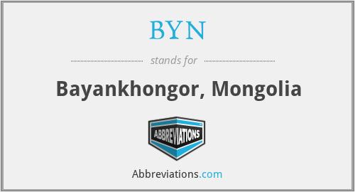 BYN - Bayankhongor, Mongolia