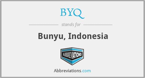 BYQ - Bunyu, Indonesia