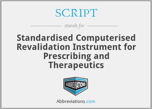 SCRIPT - Standardised Computerised Revalidation Instrument for Prescribing and Therapeutics