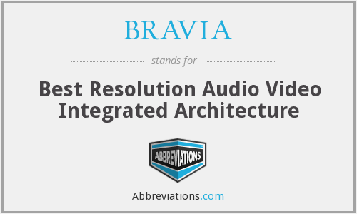 What does BRAVIA stand for?