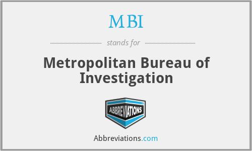 MBI - Metropolitan Bureau of Investigation