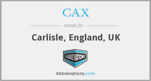 What does CAX stand for?