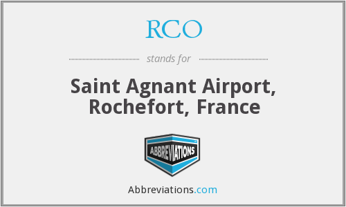 RCO - Saint Agnant Airport, Rochefort, France