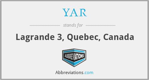 YAR - Lagrande 3, Quebec, Canada