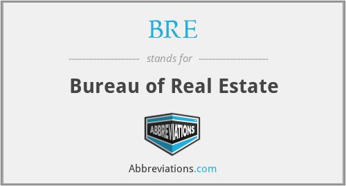 BRE - Bureau of Real Estate