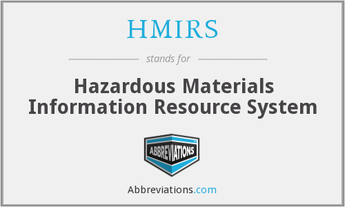 What does HMIRS stand for?