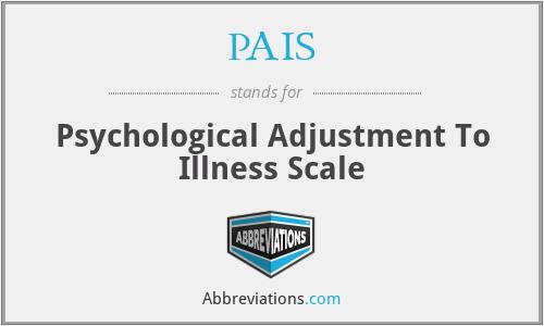 PAIS - Psychological Adjustment To Illness Scale