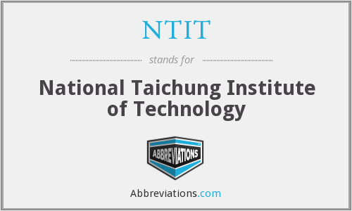 What does NTIT stand for?