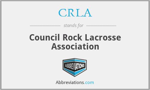 CRLA - Council Rock Lacrosse Association