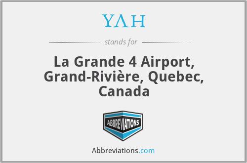 YAH - La Grande 4 Airport, Grand-Rivière, Quebec, Canada