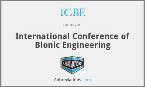 ICBE - International Conference of Bionic Engineering