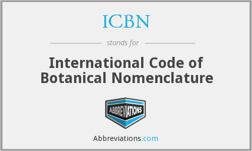 What does ICBN stand for?