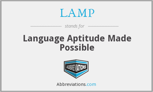 LAMP - Language Aptitude Made Possible