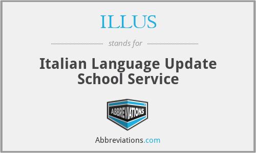 ILLUS - Italian Language Update School Service