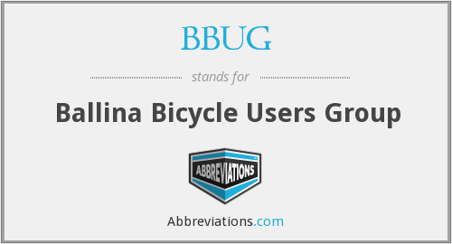 What does BBUG stand for?