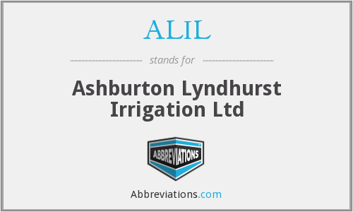 ALIL - Ashburton Lyndhurst Irrigation Ltd