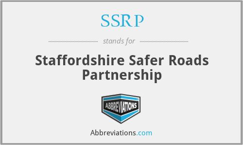 SSRP - Staffordshire Safer Roads Partnership