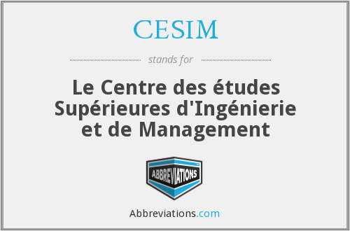 What does CESIM stand for?