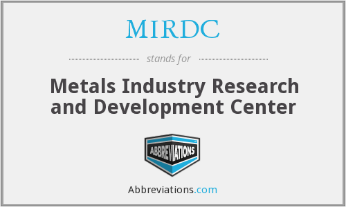 What does MIRDC stand for?