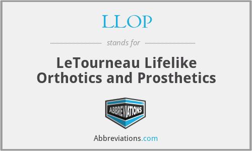 LLOP - LeTourneau Lifelike Orthotics and Prosthetics