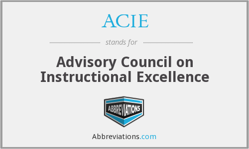 What does ACIE stand for?