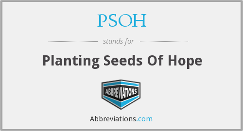 PSOH - Planting Seeds Of Hope