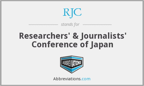 RJC - Researchers' & Journalists' Conference of Japan
