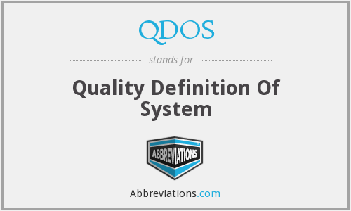 What does QDOS stand for?