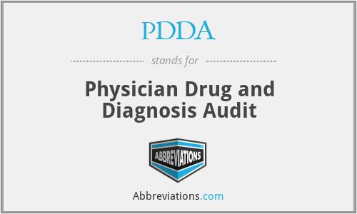 PDDA - Physician Drug and Diagnosis Audit
