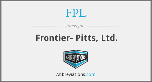 FPL - Frontier- Pitts, Ltd.