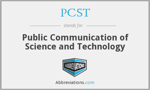 What does PCST stand for?